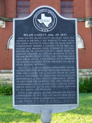 Milam County Jail of 1895 Historical Marker, Cameron, Milam, TX